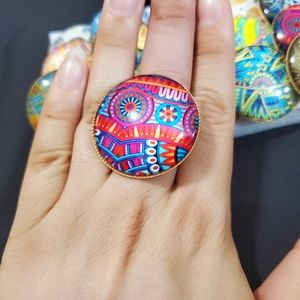 Graphic colorful Rings